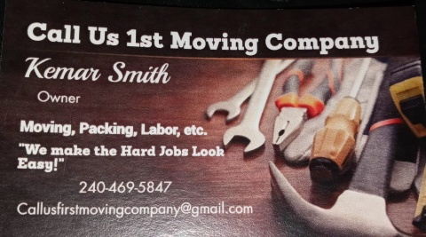 Call Us 1st Moving Company
